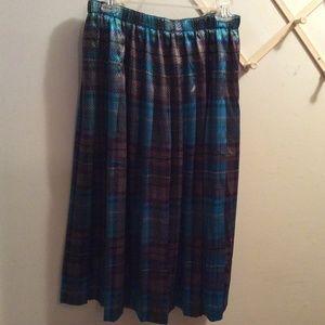 Susan Bristol Pleated Elastic Waist Skirt PL